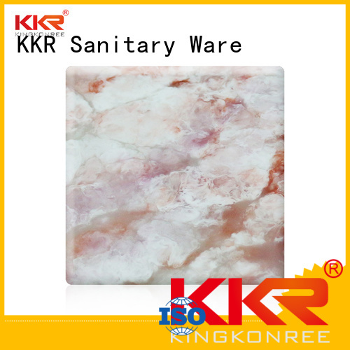 kkr pattern artificial solid surface sheets KingKonree