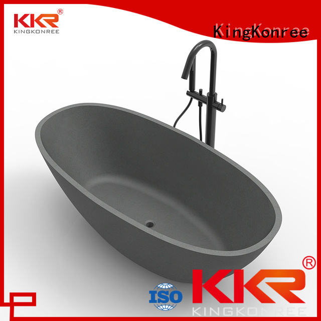 atrifial Solid Surface Freestanding Bathtub b003 bathtubs KingKonree Brand