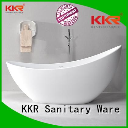 Wholesale oval solid surface bathtub KingKonree Brand