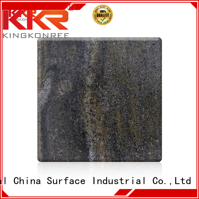 KingKonree Brand artificial solid surface sheets solid factory