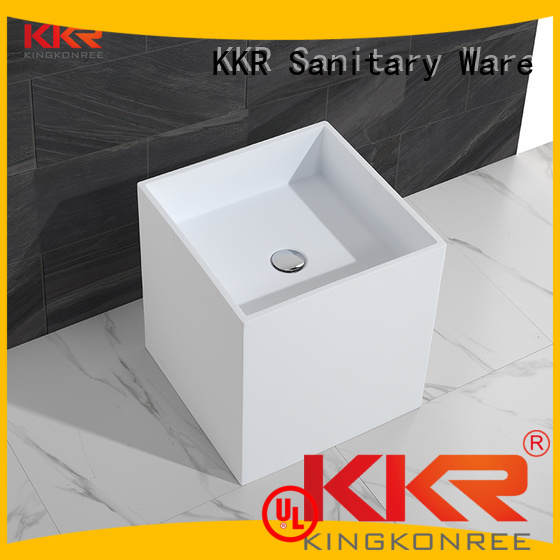diamond stone freestanding bathroom free standing basins KingKonree manufacture