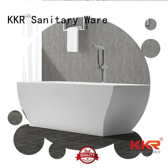 standing 190cm design KingKonree Brand solid surface bathtub supplier