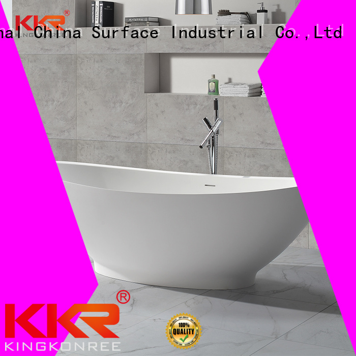 KingKonree Brand furniture design outside Solid Surface Freestanding Bathtub b021