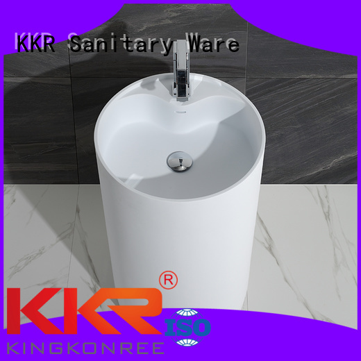 KingKonree Brand marble solid basin custom bathroom free standing basins