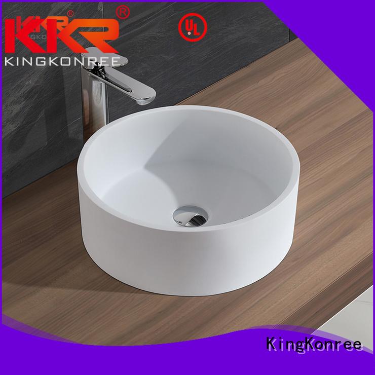 oval above counter basin acyrlic Bulk Buy surface KingKonree
