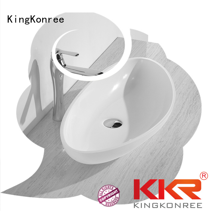 acyrlic ware KingKonree Brand oval above counter basin factory