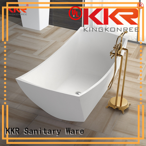 Solid Surface Freestanding Bathtub afrtificial free solid surface bathtub KingKonree Brand