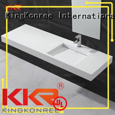 wall mounted bathroom basin wall-hung artificial small KingKonree Brand