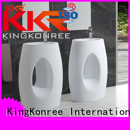 Quality KingKonree Brand bathroom free standing basins acrylic diamond