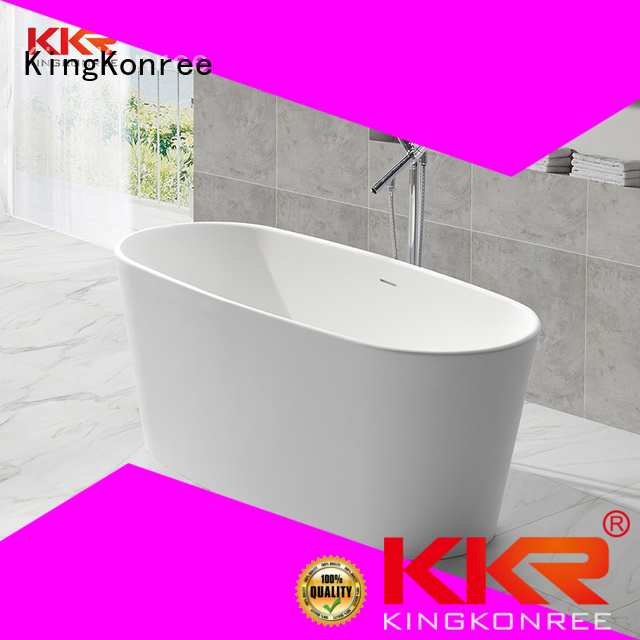 sales Solid Surface Freestanding Bathtub ellipse floor KingKonree Brand