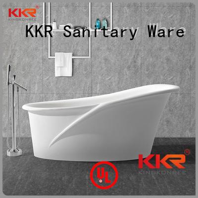 big kkr Solid Surface Freestanding Bathtub KingKonree Brand