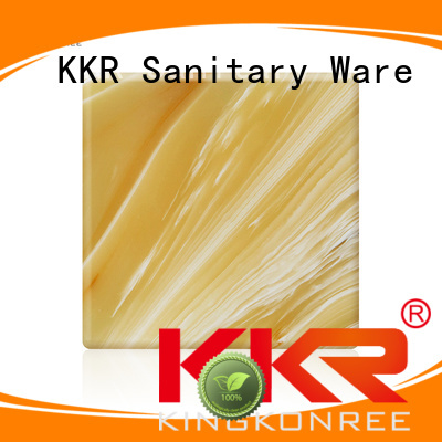 KingKonree Brand artificial surface translucent solid surface translucent