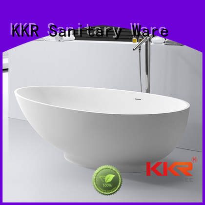 Solid Surface Freestanding Bathtub royal polymarble Bulk Buy afrtificial KingKonree