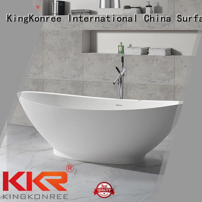 KingKonree Brand black artificial solid surface bathtub manufacture