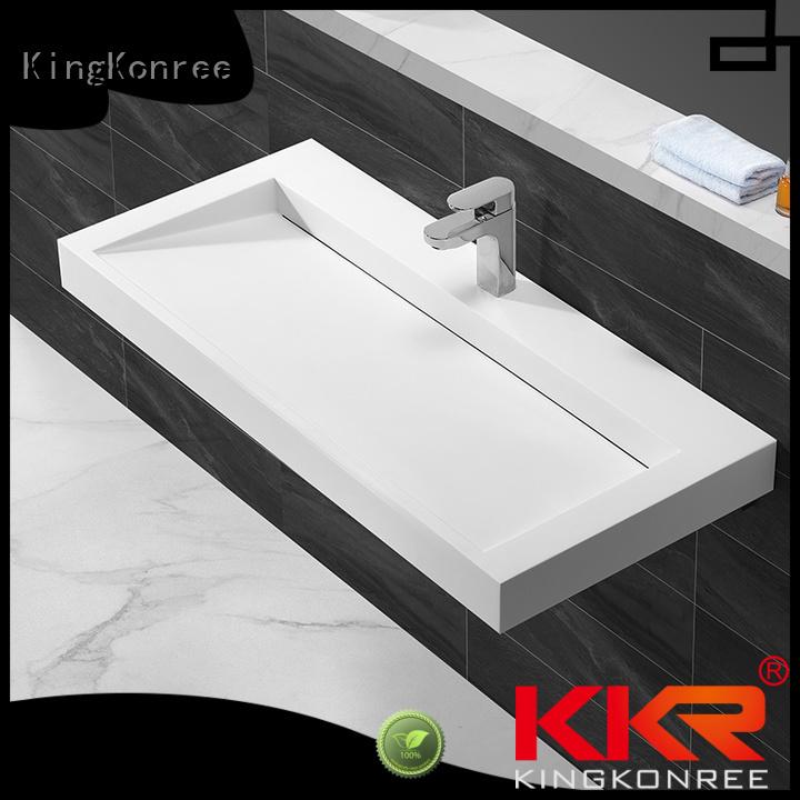 resin wall mounted wash basins hanger KingKonree company