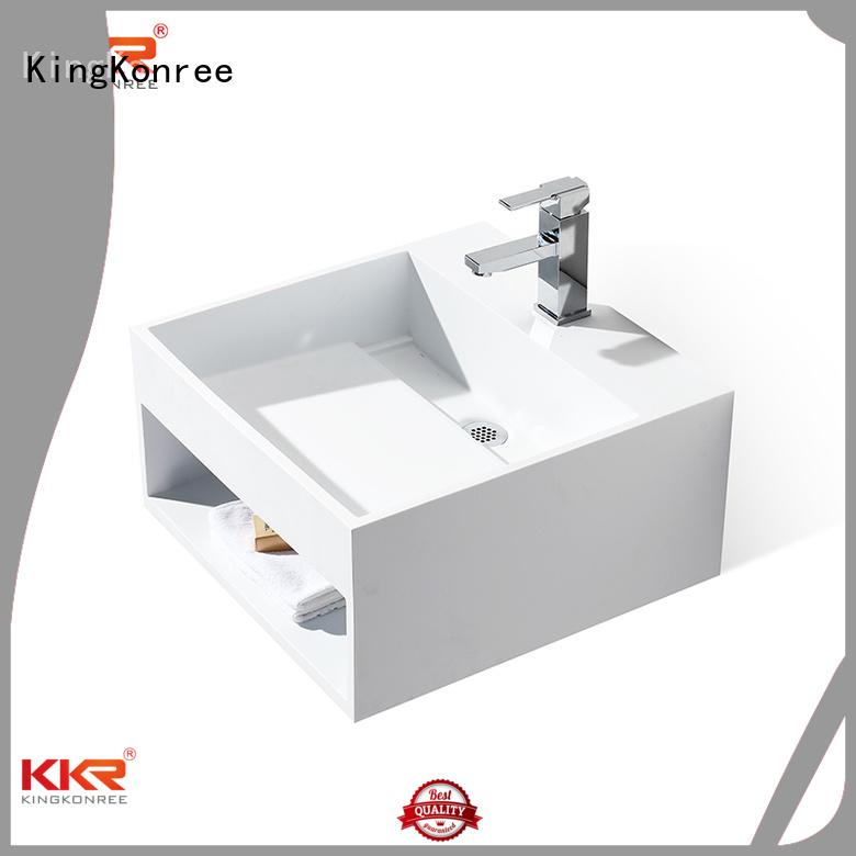 wash Custom hanger white wall mounted wash basins KingKonree design