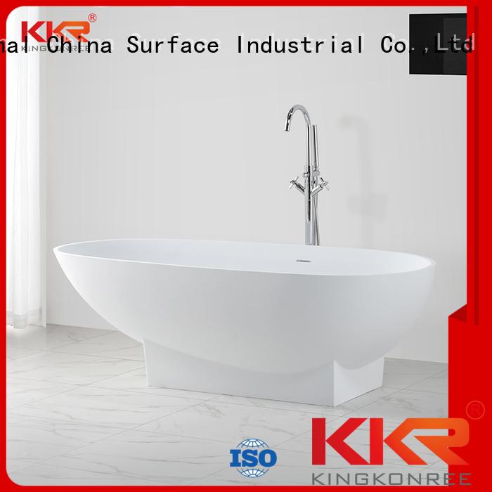 outside against b021 solid surface bathtub tub KingKonree