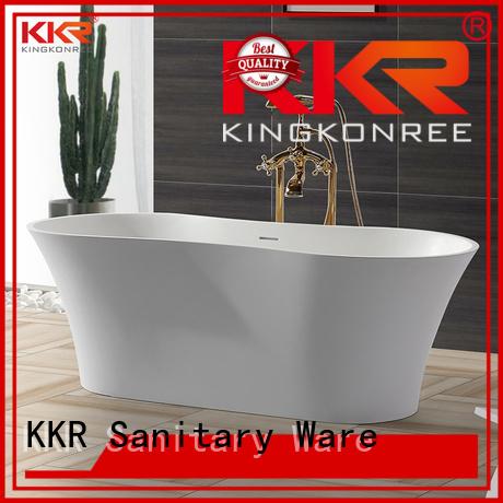 Quality KingKonree Brand storage solid surface bathtub