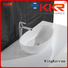 bathroom Custom pure above counter basins oval KingKonree