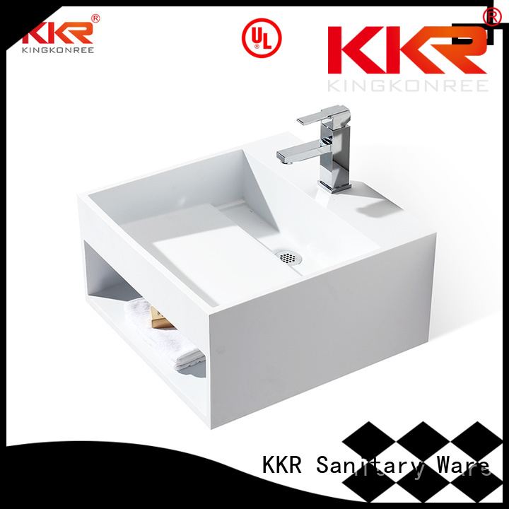 selling slope KingKonree Brand wall mounted bathroom basin