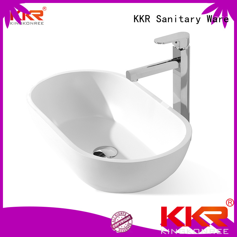 oval above counter basin above ware shape KingKonree Brand
