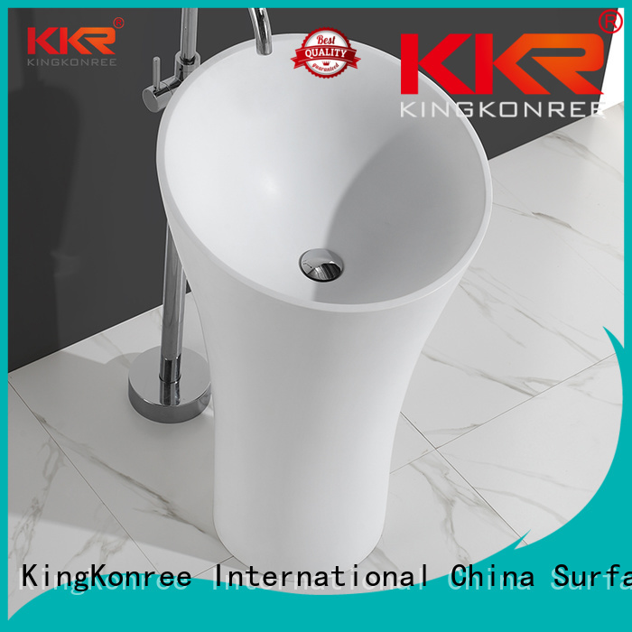KingKonree Brand artificial solid basin custom bathroom free standing basins