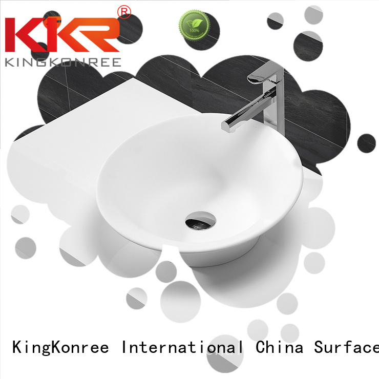 KingKonree Brand solid stone ware oval above counter basin square