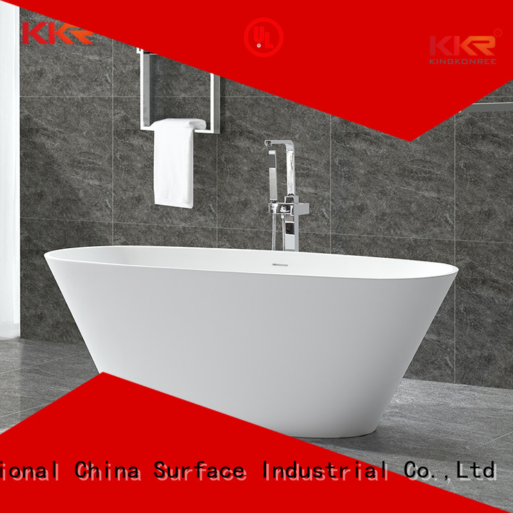 Quality KingKonree Brand black solid surface bathtub