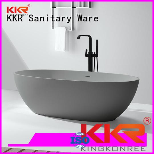 Solid Surface Freestanding Bathtub white b008 KingKonree Brand solid surface bathtub