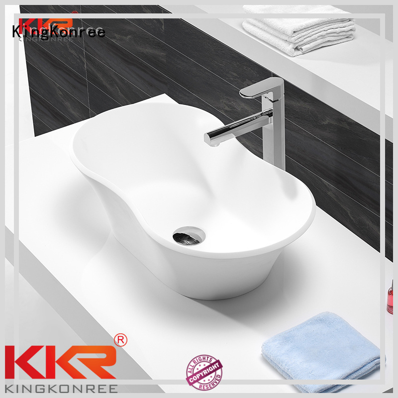 oval above counter basin counter solid above counter basins KingKonree Brand