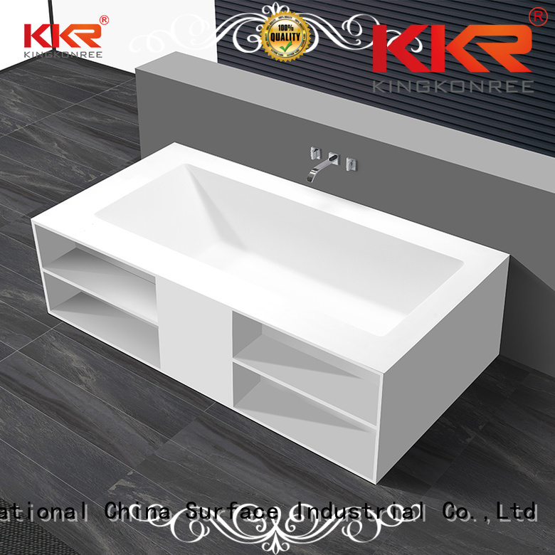 b003 outside Solid Surface Freestanding Bathtub bath KingKonree company